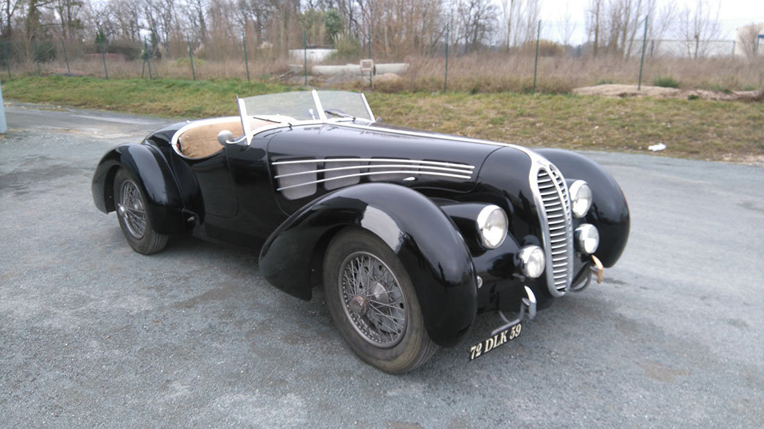 Restauration DELAHAYE 175 ROADSTER 1947