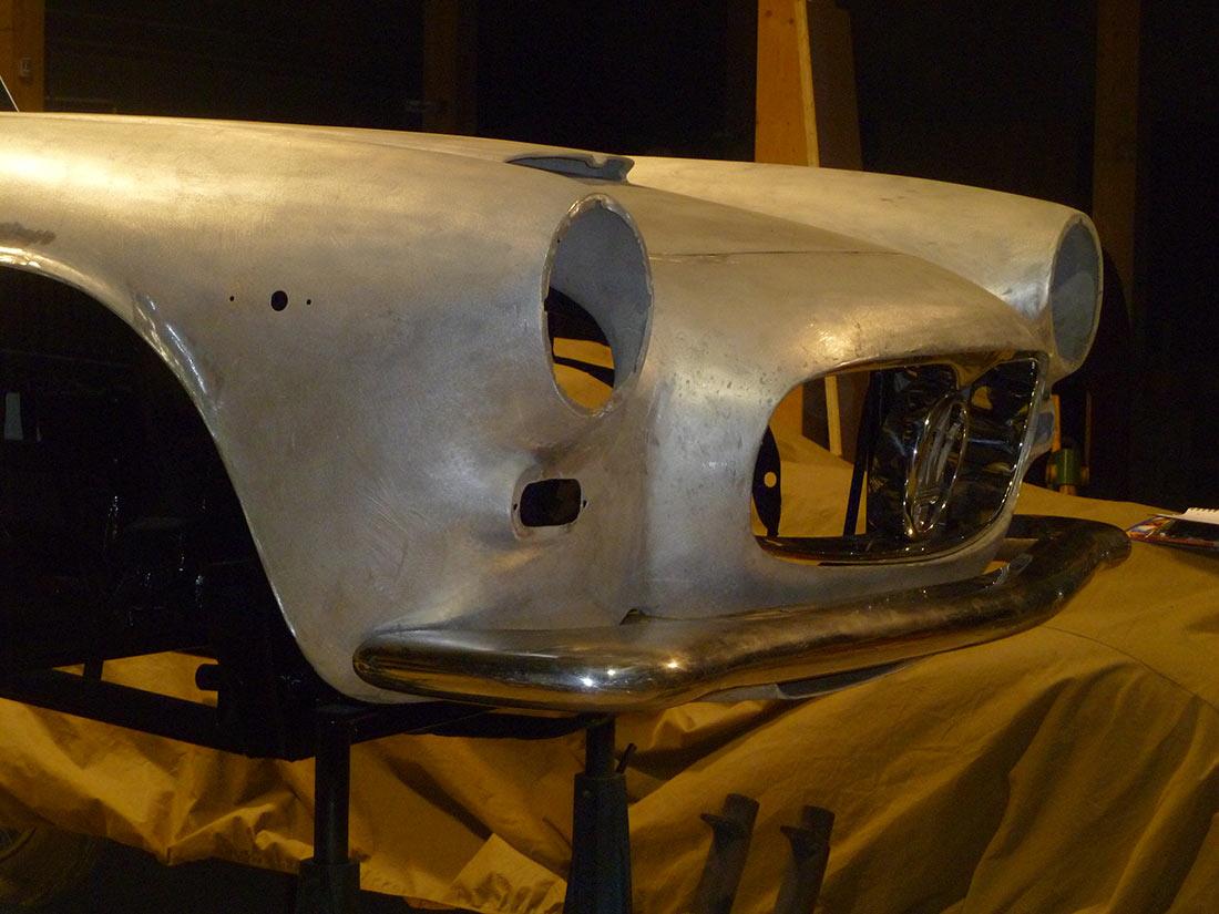 Restauration MASERATI 3500 GTI CARROSSERIE TOURING 1961